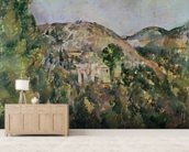 View of the Domaine Saint-Joseph, late 1880s (oil on canvas) wallpaper mural living room preview