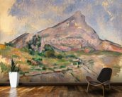 Mont Sainte-Victoire, 1897-98 (oil on canvas) mural wallpaper kitchen preview