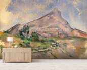 Mont Sainte-Victoire, 1897-98 (oil on canvas) mural wallpaper living room preview