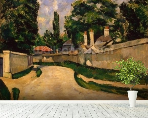 Houses Along a Road, c.1881 (oil on canvas) wall mural room setting