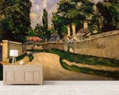 Houses Along a Road, c.1881 (oil on canvas) wall mural living room preview