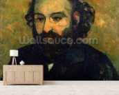 Self Portrait, 1880-81 (oil on canvas) mural wallpaper living room preview