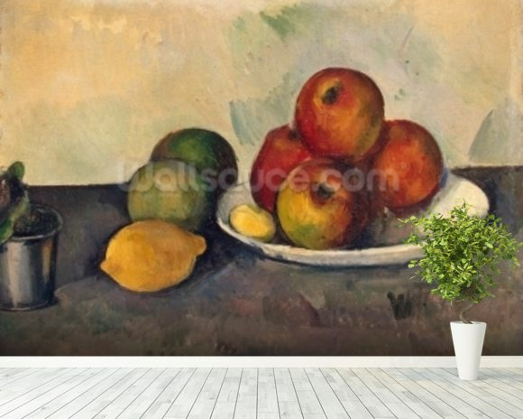 Still life with Apples, c.1890 (oil on canvas) wall mural room setting