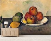 Still life with Apples, c.1890 (oil on canvas) wall mural living room preview