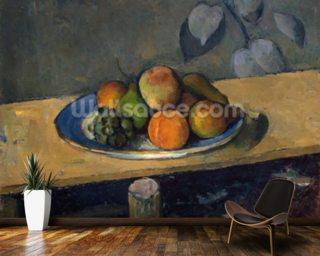 Apples, Pears and Grapes 1879 Wallpaper Mural Wallpaper Wall Murals