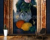 Flowers and fruits, c.1880 (oil on canvas) (see also 287552) mural wallpaper kitchen preview