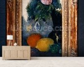 Flowers and fruits, c.1880 (oil on canvas) (see also 287552) mural wallpaper living room preview
