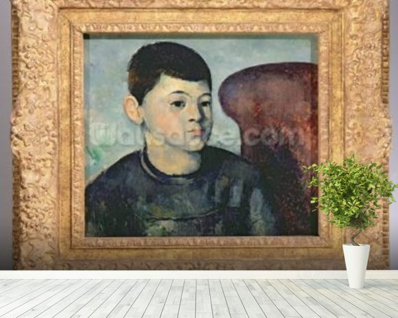 Portrait of the artists son, 1881-82 (oil on canvas) wall mural room setting