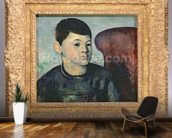 Portrait of the artists son, 1881-82 (oil on canvas) wall mural kitchen preview