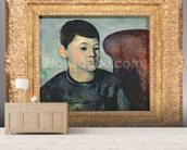Portrait of the artists son, 1881-82 (oil on canvas) wall mural living room preview