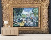 Dejeuner sur lherbe, 1876-77 (oil on canvas) wallpaper mural living room preview