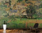 The Hermitage at Pontoise, 1884 (oil on canvas) mural wallpaper kitchen preview