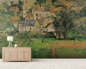 The Hermitage at Pontoise, 1884 (oil on canvas) mural wallpaper living room preview