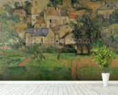 The Hermitage at Pontoise, 1884 (oil on canvas) mural wallpaper in-room view