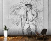 Camille Pissarro (black lead on paper) (b/w photo) wall mural kitchen preview