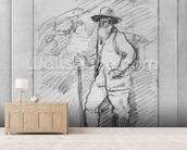 Camille Pissarro (black lead on paper) (b/w photo) wall mural living room preview