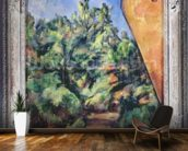 Red rock, c.1895 (oil on canvas) wallpaper mural kitchen preview