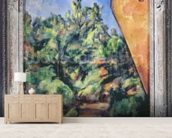 Red rock, c.1895 (oil on canvas) wallpaper mural living room preview