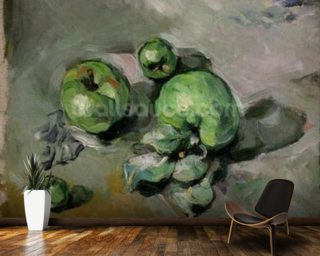 Green Apples, c.1872-73 (oil on canvas) wallpaper mural