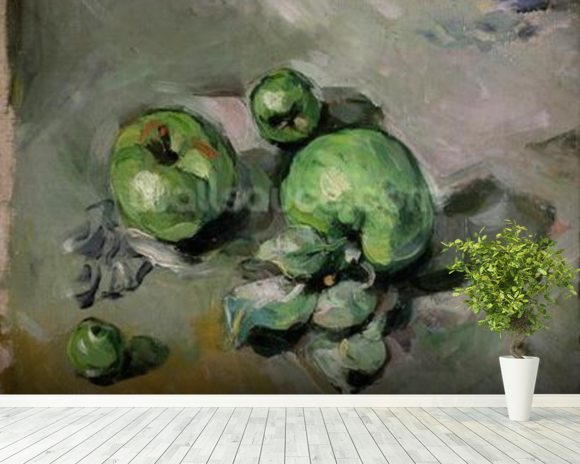 Green Apples, c.1872-73 (oil on canvas) wallpaper mural room setting