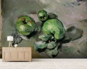 Green Apples, c.1872-73 (oil on canvas) wallpaper mural living room preview