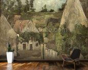 Crossroads at the Rue Remy, Auvers, c.1872 (oil on canvas) mural wallpaper kitchen preview