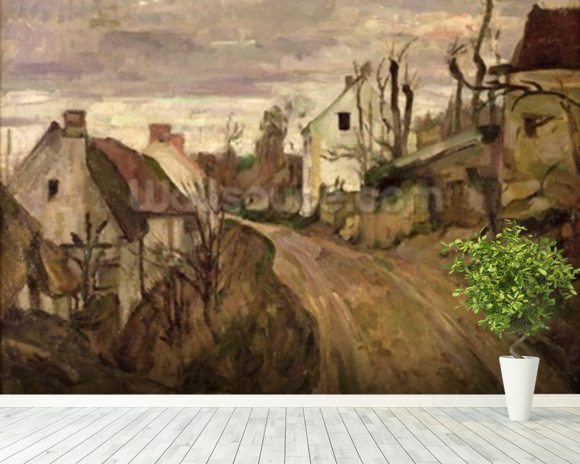 The Village Road, Auvers, c.1872-73 (oil on canvas) wall mural room setting