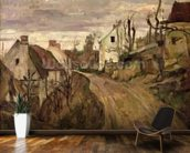 The Village Road, Auvers, c.1872-73 (oil on canvas) wall mural kitchen preview
