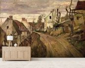 The Village Road, Auvers, c.1872-73 (oil on canvas) wall mural living room preview