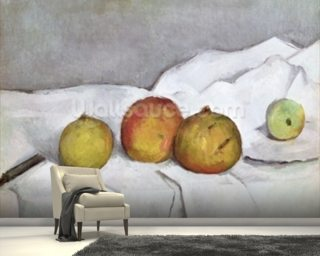 Fruit on a Cloth, c.1890 (oil on canvas) wallpaper mural
