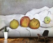 Fruit on a Cloth, c.1890 (oil on canvas) wallpaper mural kitchen preview