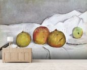 Fruit on a Cloth, c.1890 (oil on canvas) wallpaper mural living room preview