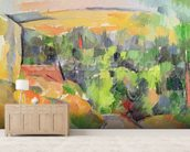 The Bend in the road, 1900-06 (oil on canvas) mural wallpaper living room preview