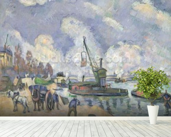 Quai de Bercy, Paris, 1873-75 (oil on canvas) wall mural room setting