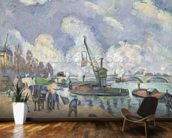 Quai de Bercy, Paris, 1873-75 (oil on canvas) wall mural kitchen preview