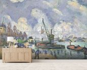 Quai de Bercy, Paris, 1873-75 (oil on canvas) wall mural living room preview