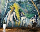 The Three Bathers, c.1879-82 (oil on canvas) mural wallpaper kitchen preview
