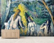 The Three Bathers, c.1879-82 (oil on canvas) mural wallpaper living room preview