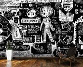 Graffiti - Black and White wall mural kitchen preview