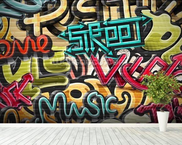 Graffiti - Street Wallpaper Wall Mural | Wallsauce USA