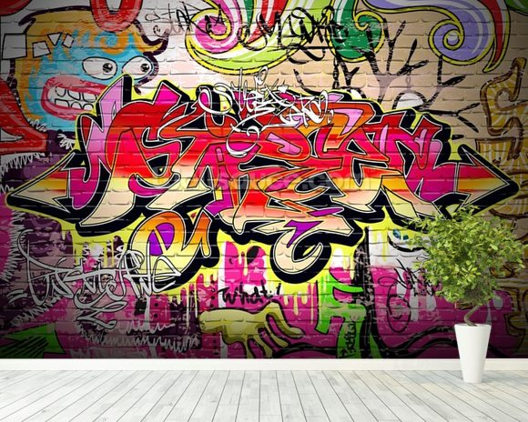Graffiti Mural Wallpaper