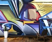 Graffiti Zone wall mural kitchen preview