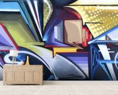 Graffiti Zone wall mural living room preview
