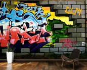 Breach the Wall of Graffiti mural wallpaper kitchen preview