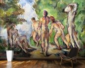 Bathers, c.1892-94 (oil on canvas) mural wallpaper kitchen preview