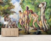 Bathers, c.1892-94 (oil on canvas) mural wallpaper living room preview