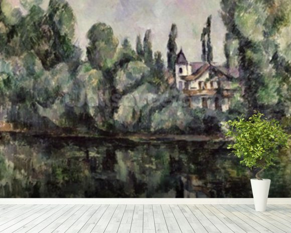 The Banks of the Marne, 1888 (oil on canvas) wall mural room setting