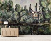 The Banks of the Marne, 1888 (oil on canvas) wall mural living room preview