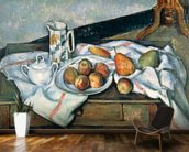 Still Life of Peaches and Pears, 1888-90 (oil on canvas) mural wallpaper kitchen preview