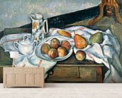 Still Life of Peaches and Pears, 1888-90 (oil on canvas) mural wallpaper living room preview